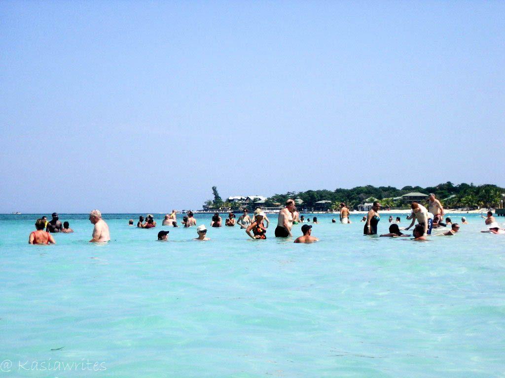 people in ocean water
