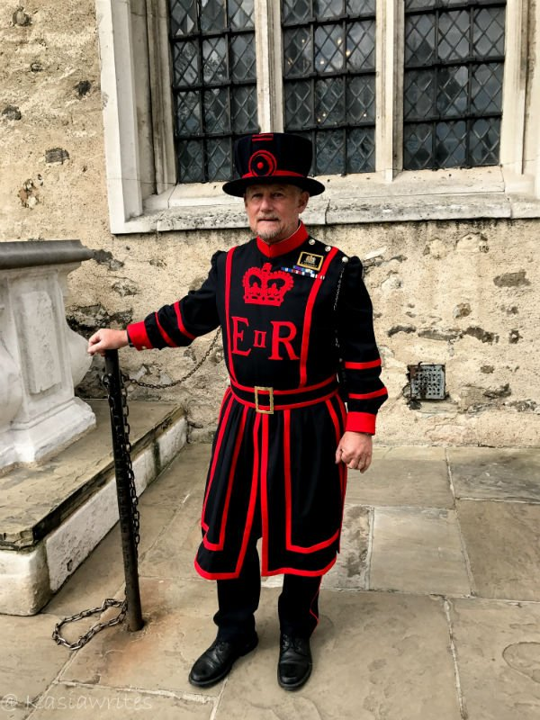 Yeoman warder also know as the Beefeater