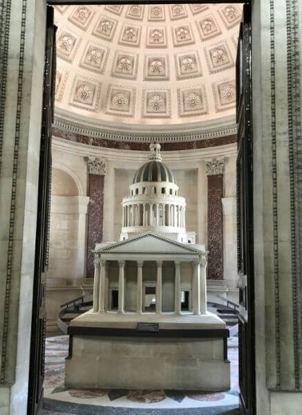 scaled model of the Pantheon museum in Paris