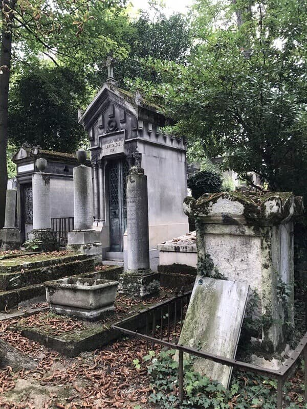 old monuments at cemetery