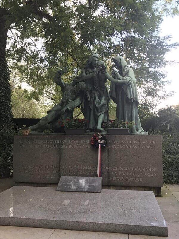 monument at a cemetery