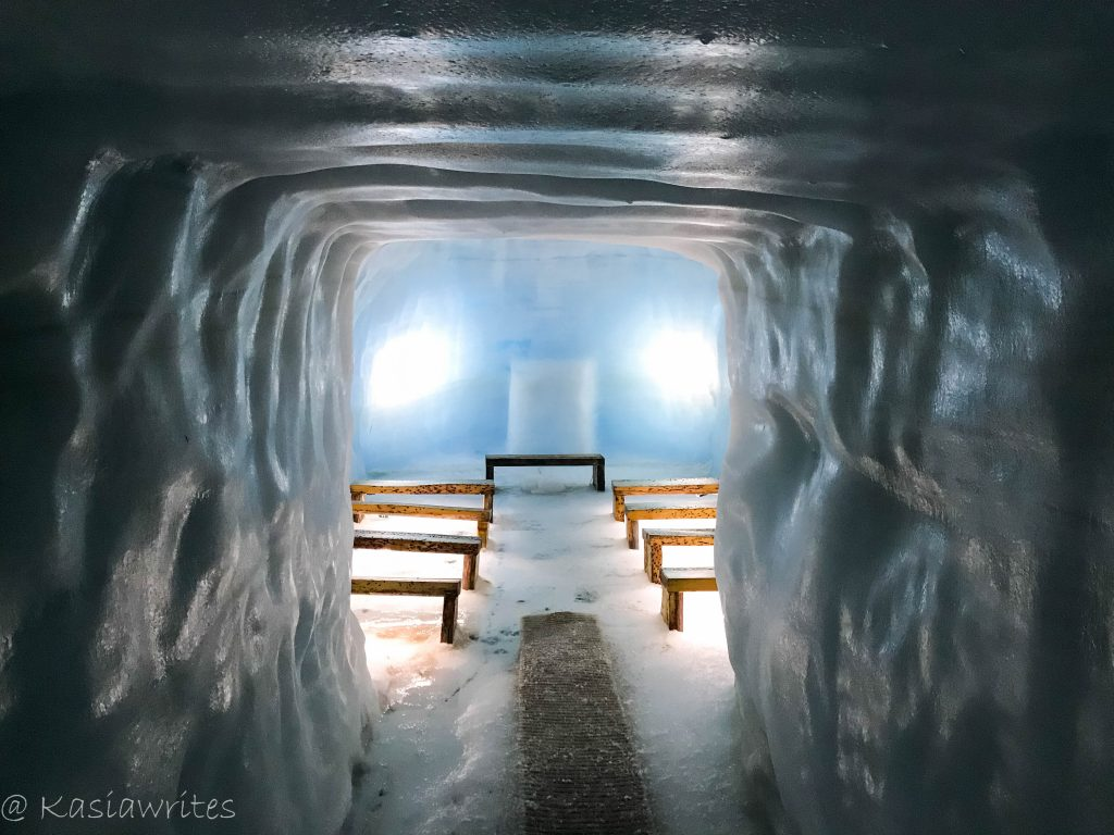 chapel inside ice cave in Iceland