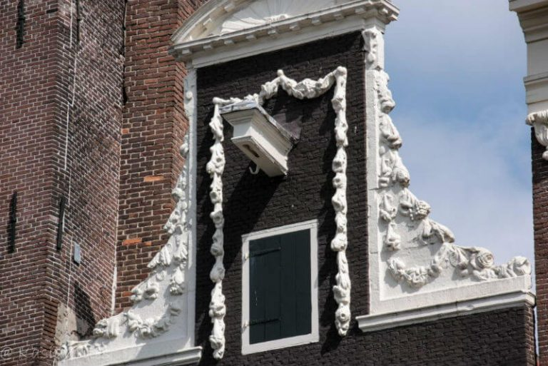 visiting Amsterdam for hooks and gables above buildings