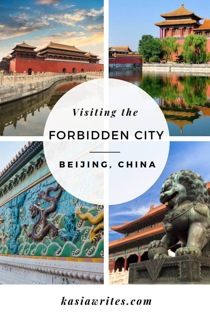 collage of images from forbidden city in beijing