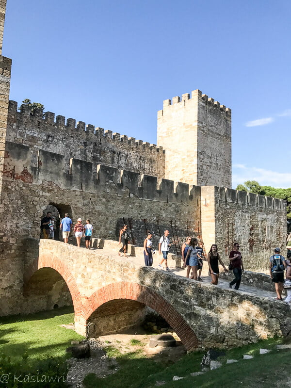 outside the walls of Castelo de Sao Jorge in Lesbon