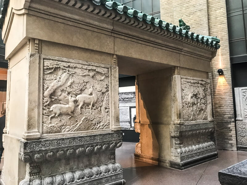 square arch with Chinese reliefs