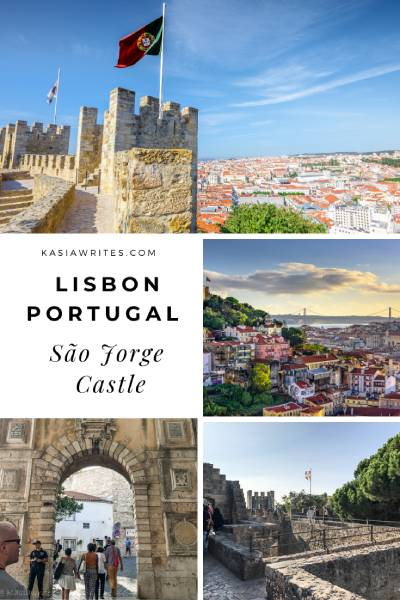 visiting the Sao Jorge castle in Lisbon