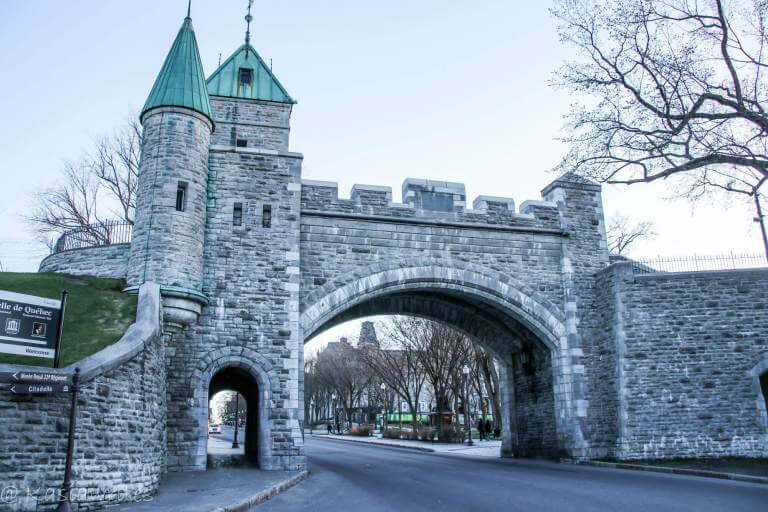 fortified gate in Quebec City