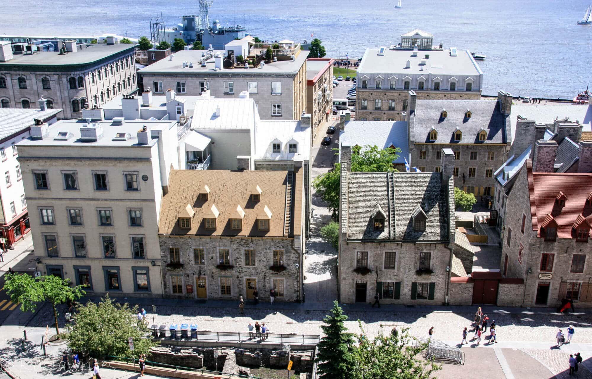 overlooking Quebec City old port