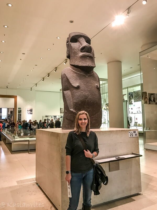 easter island head at the British Museum