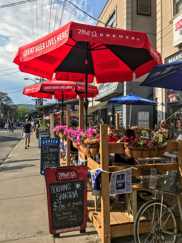 patios along Kensington Market