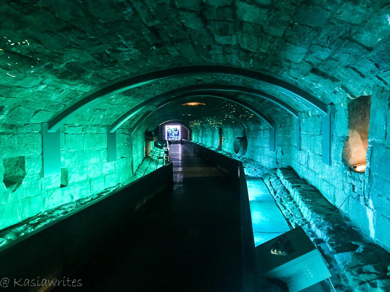 underground tunnel in Montreal