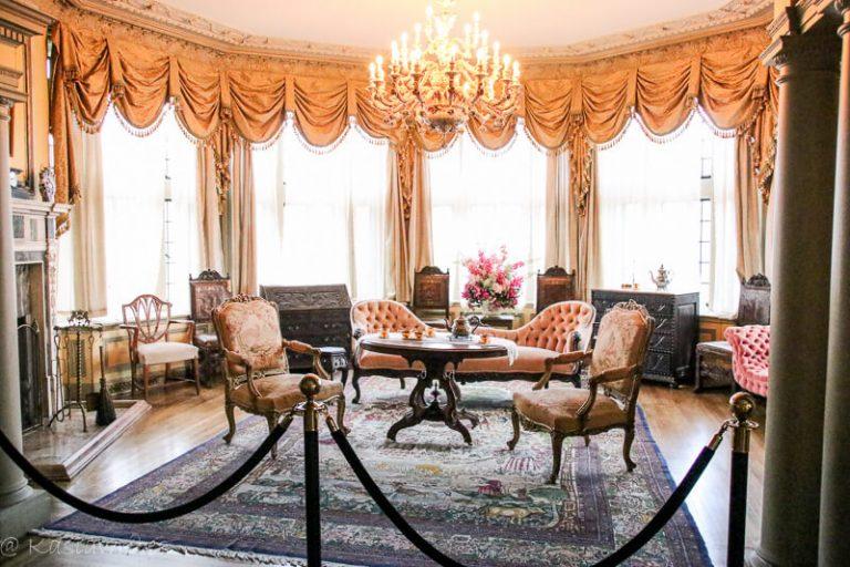 sitting room inside Casa Loma