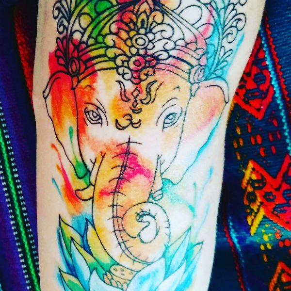 deity travel tattoo