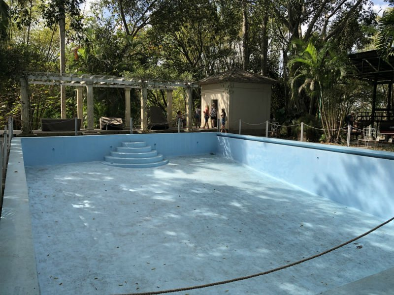 pool at Hemingway's house