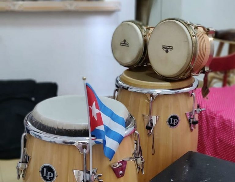 larege and small cuban bongos