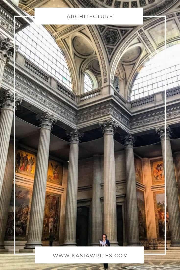 architecture of Pantheon Paris