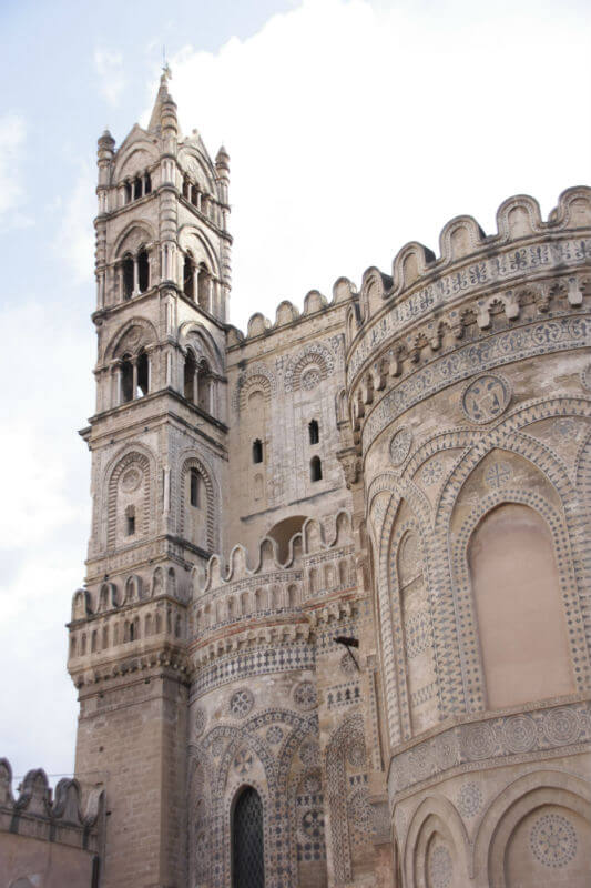 tower of the Palermo cathedral - stunning architecture