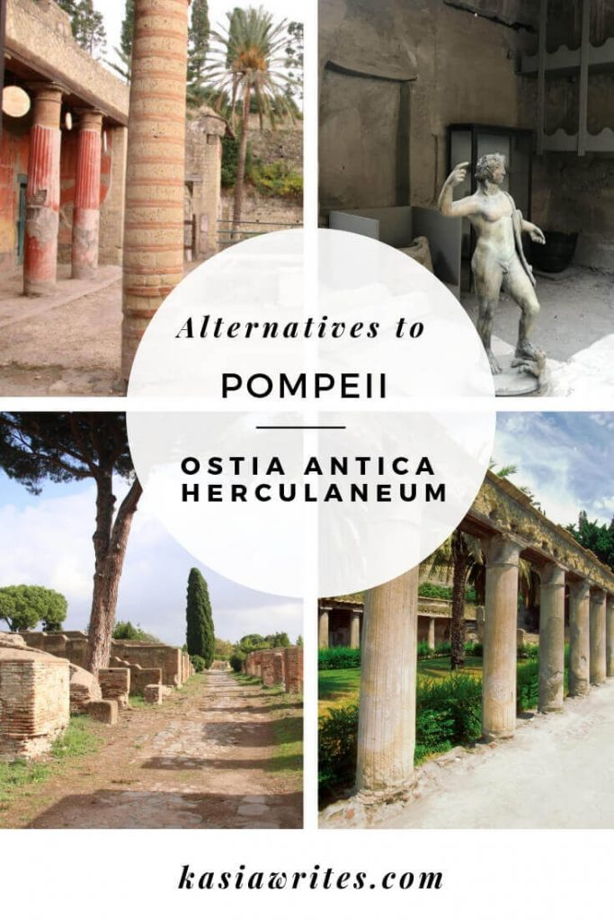 Looking for alternatives to Pompeii? The ancient Roman towns of Ostia Antica and Herculaneum are great options for visiting Roman ruins in Italy.