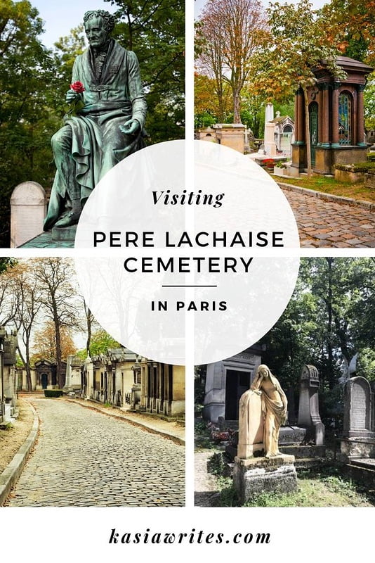statues and roads of Pere Lachaise cemetery