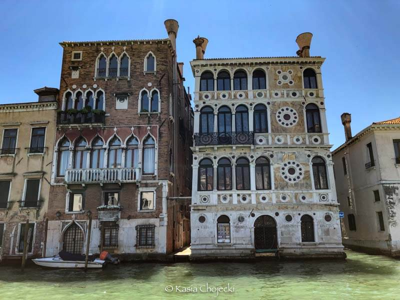 architecture along Grand Canal in Venice