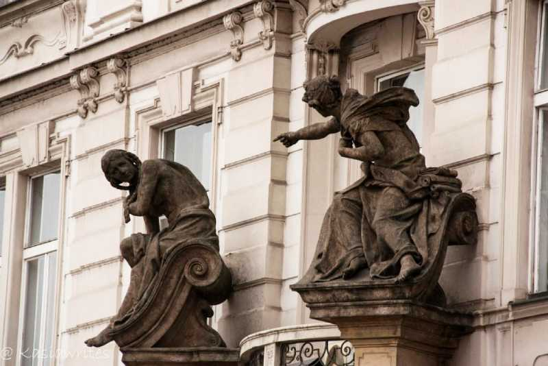 Statues on buildings