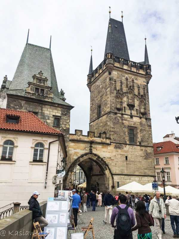 entrance at the Charles bridge in Prague