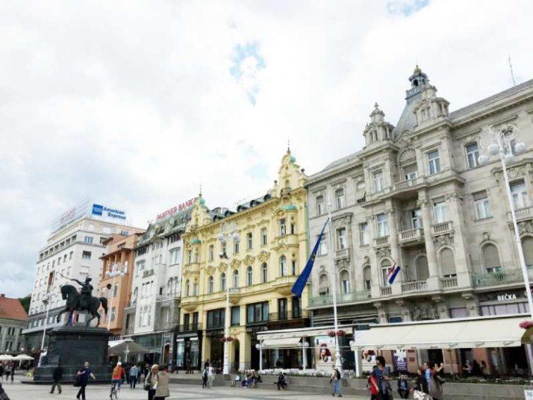 main square in Zagreb