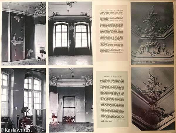 photographs of inside of Rundale Palace before the renovations