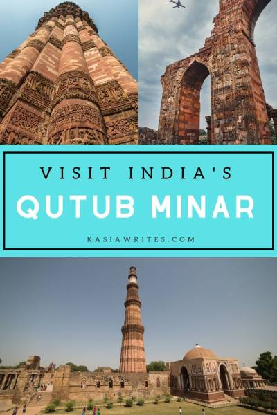 collage of Qutub Minar site in Delhi