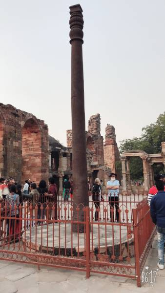 tourists visit Qutub Minar site