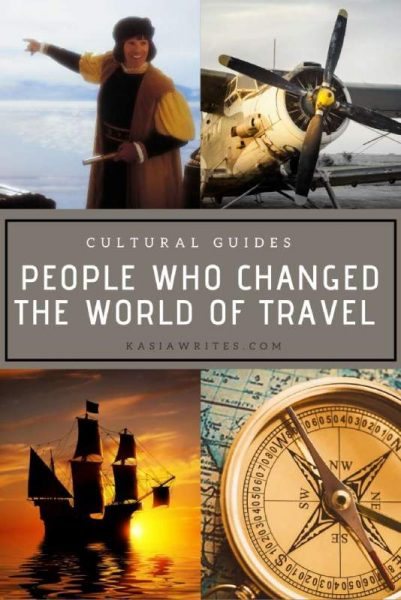 an old ship, compass, old plane and a male explorer changed the world of travel