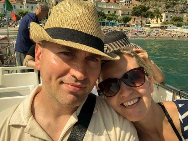 kasia and alex at amalfi coast