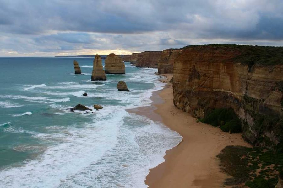 Driving the Great Ocean Road with a view of 12 Apostles