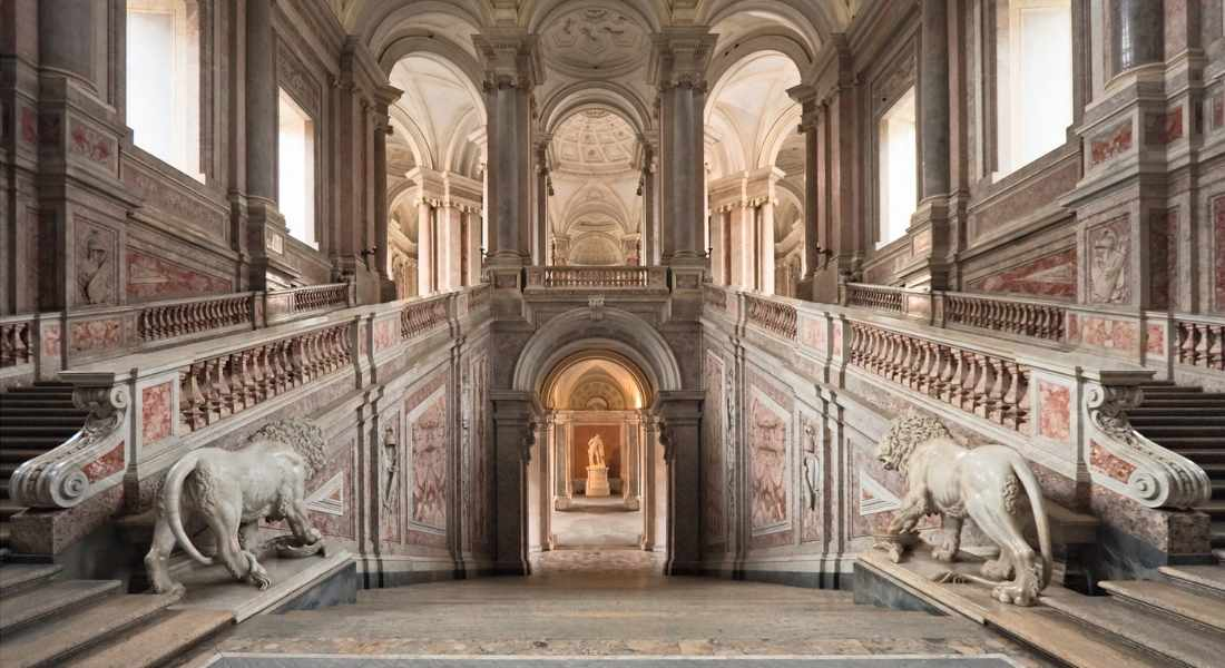 18th-century Royal Palace of Caserta, a magnificent palazzo near Naples