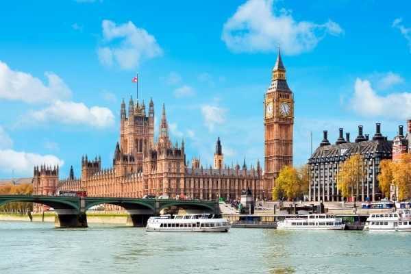 Parliament buildings in London UK